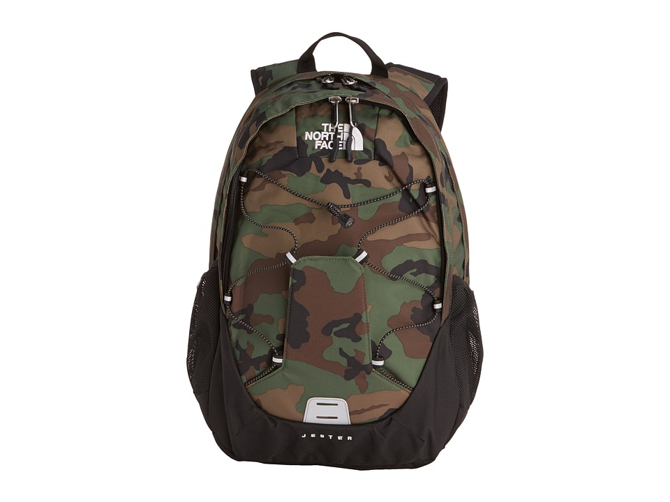 image of The North Face Jester (Military Green Woodland Print/TNF Black) Backpack Bags