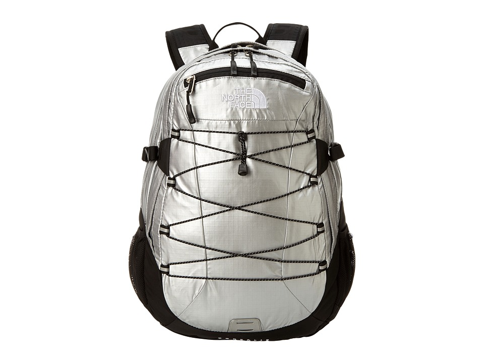 image of The North Face Women's Borealis (Metallic Silver Ripstop/TNF Black) Backpack Bags