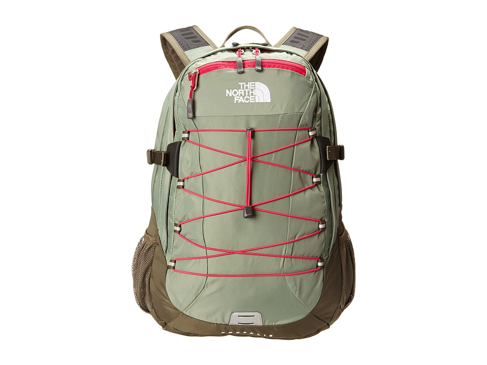 image of The North Face Women's Borealis (Sea Spray Green/Cerise Pink) Backpack Bags