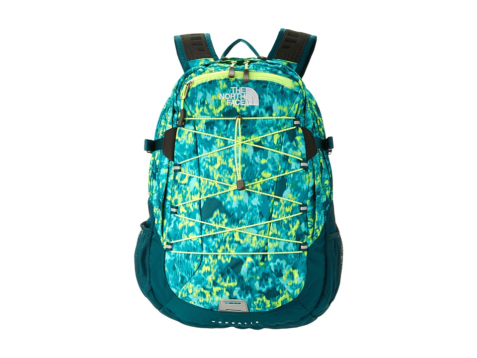 image of The North Face Women's Borealis (Ion Blue Washed Floral Print) Backpack Bags