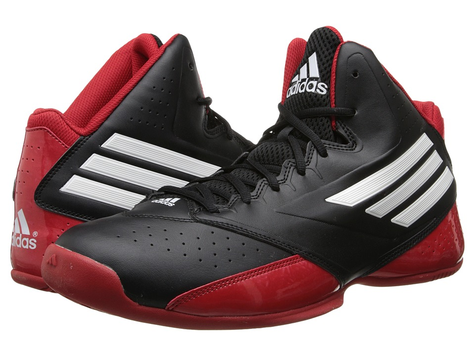 image of adidas 3 Series 2014 (Black/Core White/Scarlet) Men's Basketball Shoes