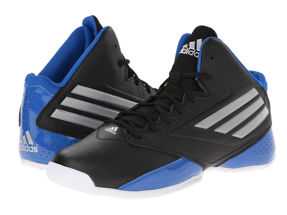 image of adidas 3 Series 2014 (Black/Silver Metalic/Blue Beauty) Men's Basketball Shoes
