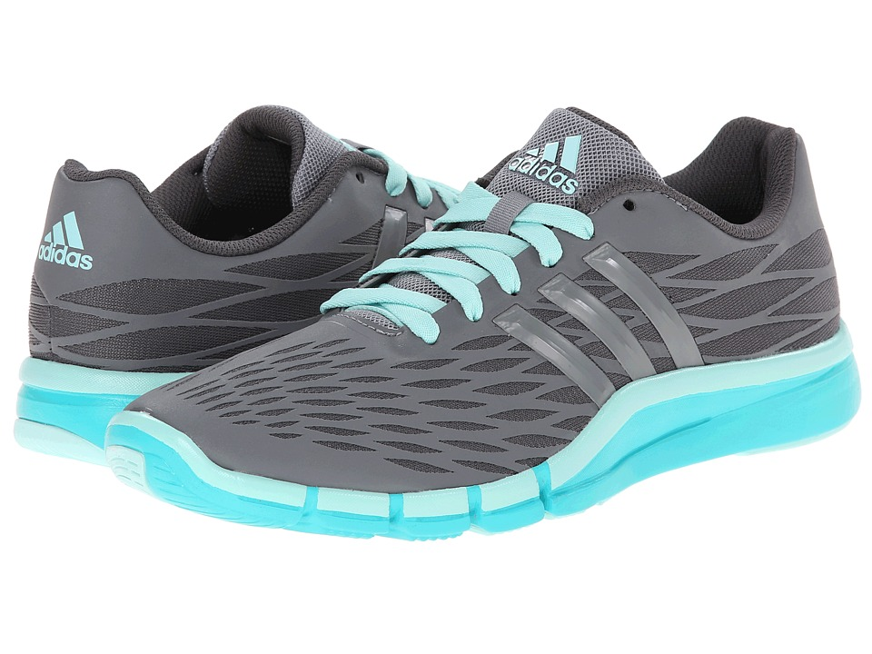 image of adidas A.T. 360.2 Prima (Granite/Grey/Vivid Mint) Women's Cross Training Shoes
