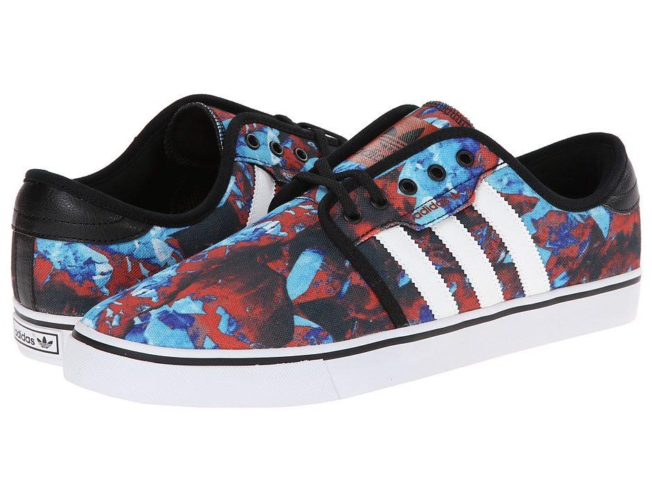 pretty nice 2acf0 dea64 adidas Skateboarding Seeley (Frost Blue Black ST Fox Red (Kryptonite  Print)) Men s Skate Shoes