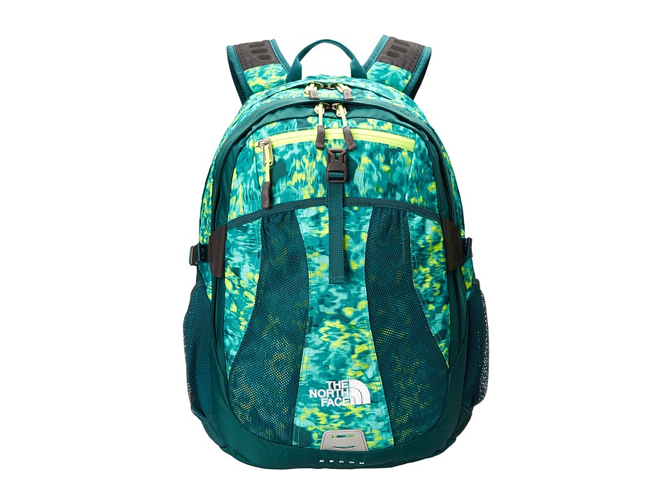 image of The North Face Women's Recon (Ion Blue Washed Floral Print) Backpack Bags