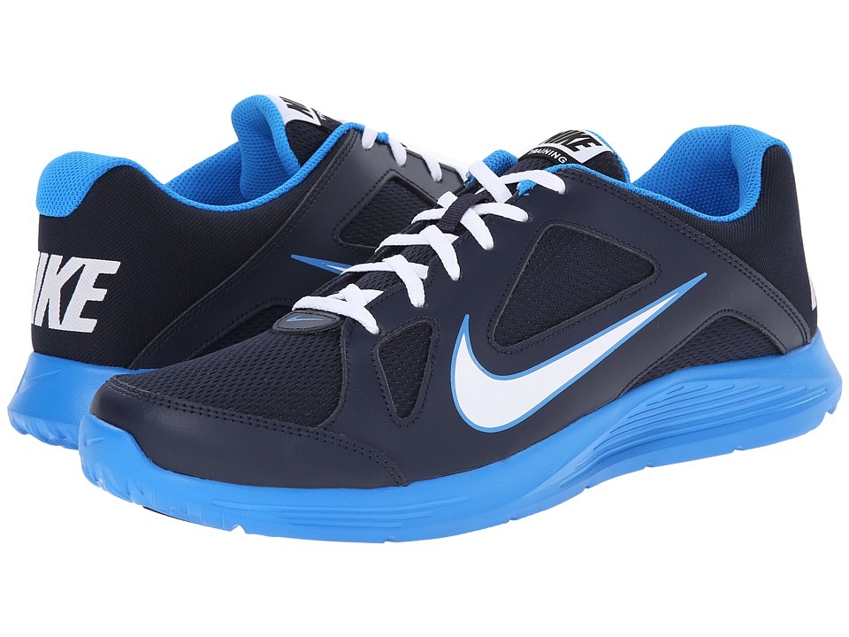 blue nike training shoes