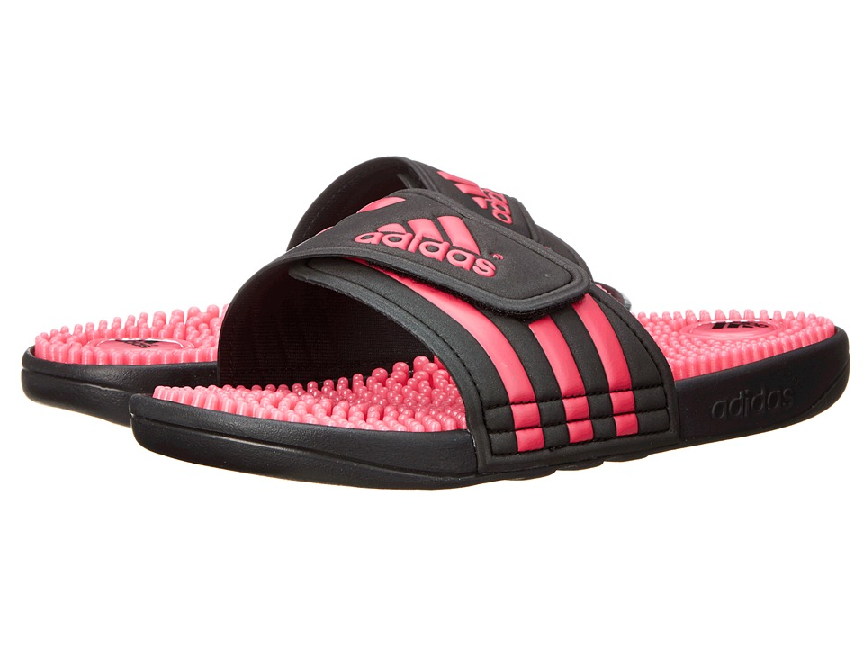 image of adidas adissage (Black/Bahia Pink) Women's Sandals