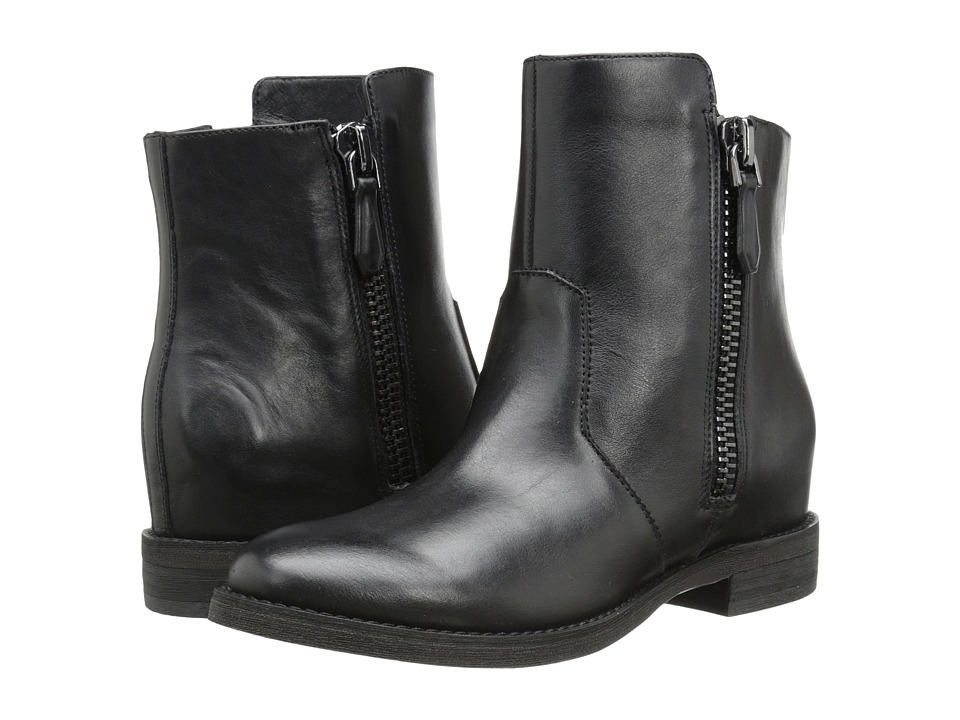 image of Kenneth Cole New York Marcy (Black Leather) Women's Zip Boots