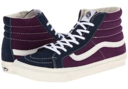 Vans SK8-Hi Slim ((Vintage Suede) Grape Royale) Skate Shoes