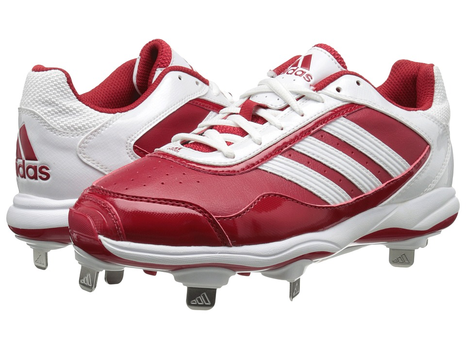 image of adidas Abbott Pro Metal 2.0 (University Red/Running White) Women's Cleated Shoes