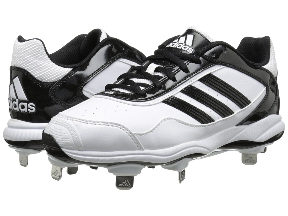 image of adidas Abbott Pro Metal 2.0 (Running White/Black/Metallic Silver) Women's Cleated Shoes