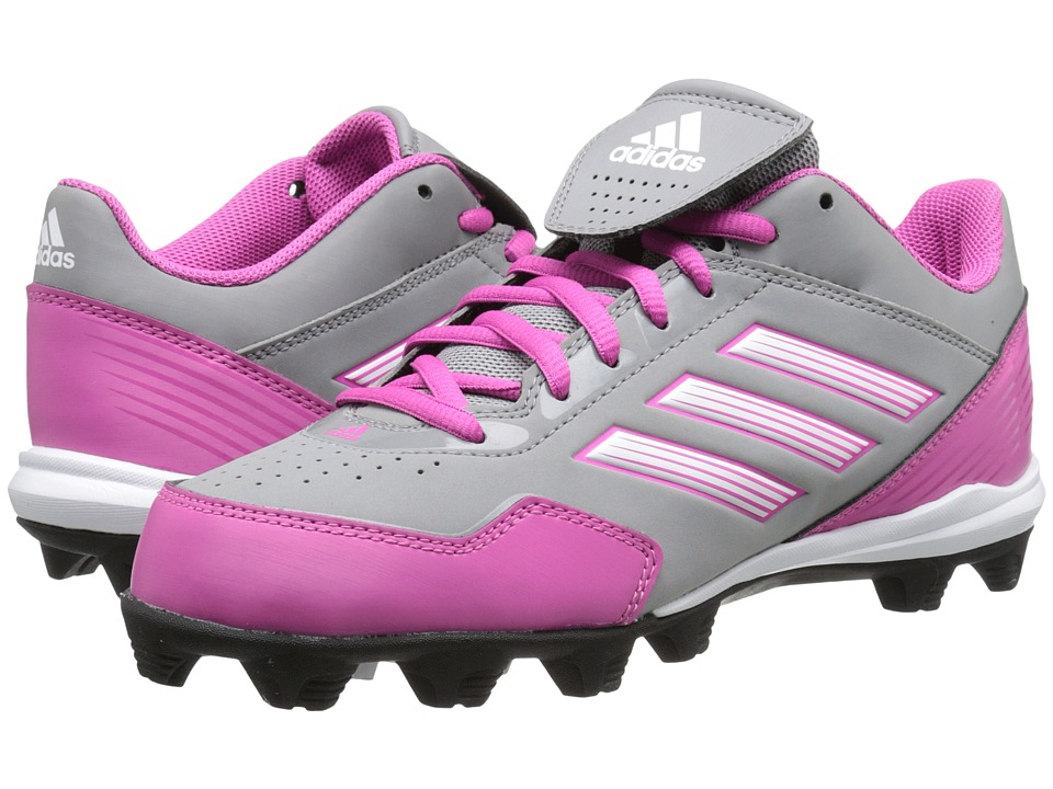 image of adidas Abbott Wheelhouse MD (Aluminum2/Intense Pink/Running White) Women's Cleated Shoes